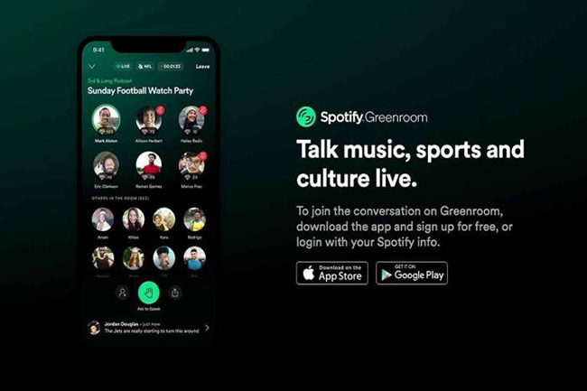 Spotify, Greenroom'u Kullanıma Açtı