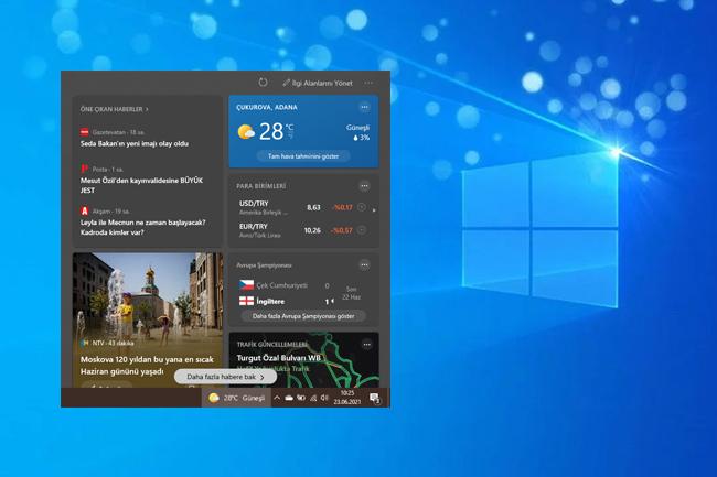 Windows 10'da Görev Çubuğundan Hava Durumu Panelini Kaldırma